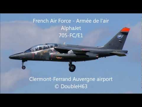 [Clermont-Ferrand Auvergne Airport] Alphajet | French Air Force Armée de l'Air Touch and go ATC HD