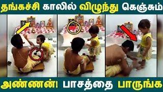 தங்கச்சி காலில் விழுந்து கெஞ்சும் அண்ணன்! பாசத்தை பாருங்க | Tamil News |