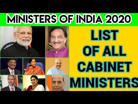 Current Ministers Of India 2020 - Cabinet Ministers - Council Of Ministers