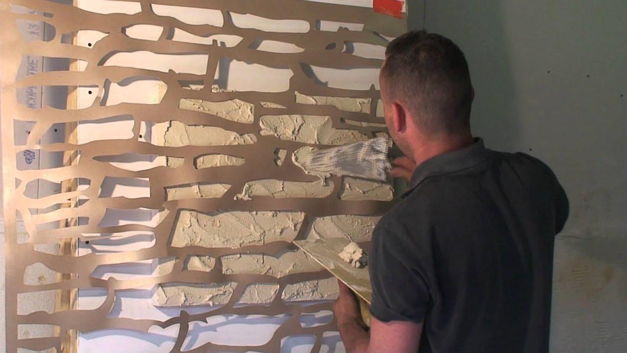 decoration mur effet pierre