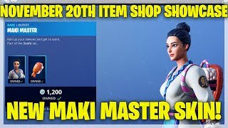 Fortnite Item Shop NEW MAKI MASTER SKIN! [November 20th, 2018] (Fortnite Battle Royale)