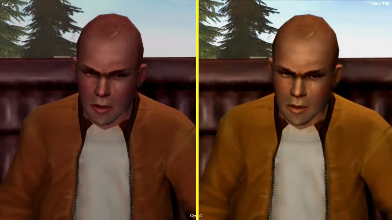 Bully Anniversary Edition Mobile vs Xbox 360 Graphics
