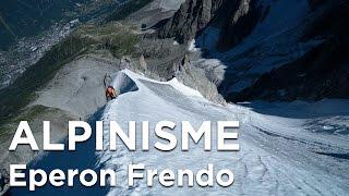 Eperon Frendo Aiguille du Midi Chamonix Mont-Blanc massif alpinisme montagne