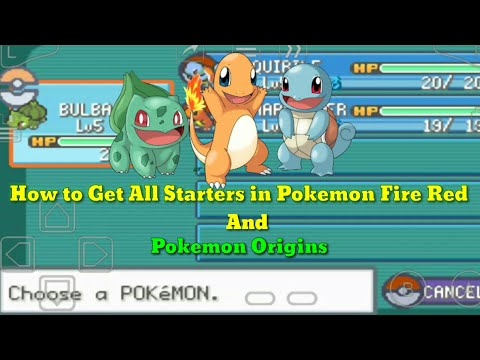 How To Get All Starters In Pokemon Fire Red And Pokemon Origins [ In Hindi ]