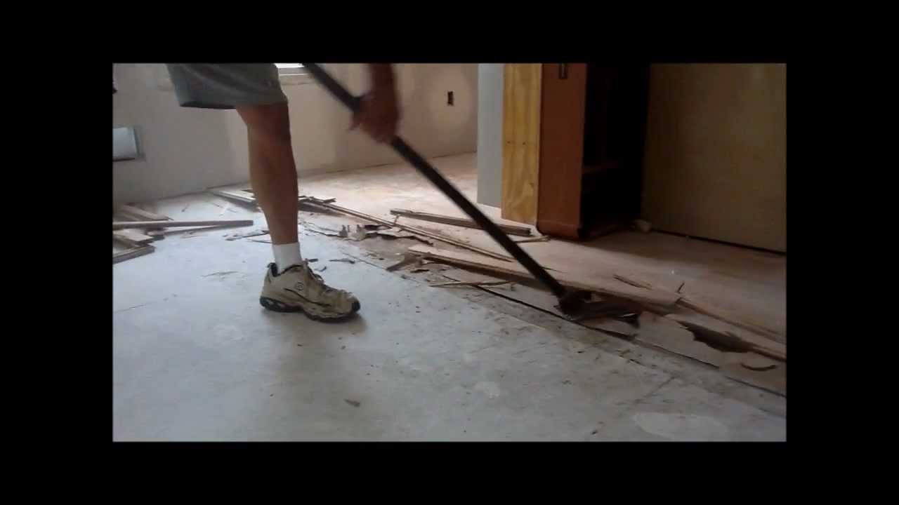 Gutster Flooring Bar  Fastest way to remove hardwood