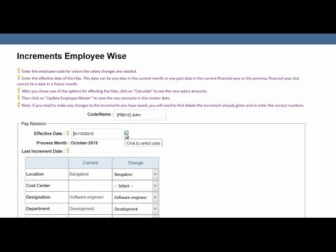Managing Salary Increments and Calculation of Increment Arrears in QuickBooks Payroll