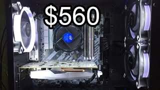 $560 White Theme Build Gaming PC : Project Snowdrop