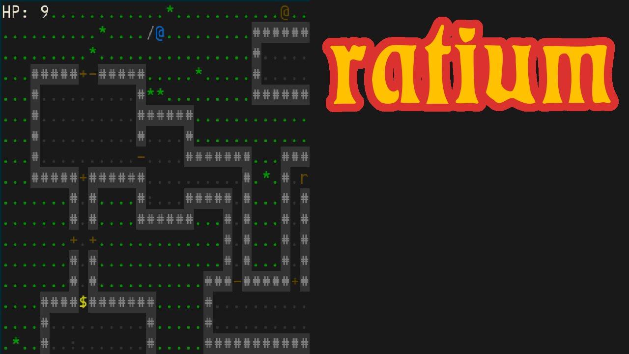 ratium, Dumb Little NCurses ASCII Game