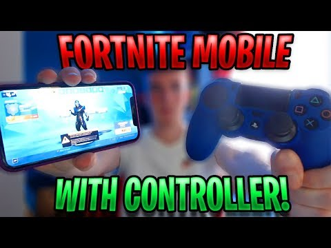 How to Play Fortnite iOS with a PS4 or Xbox Controller! (iOS 13 Download)