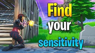 How to FIND YOUR PERFECT SENSITIVITY! How to get better at Fortnite! Fortnite tips!