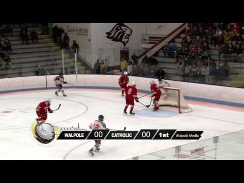 Walpole Boys Hockey vs Catholic Memorial 02 27 17