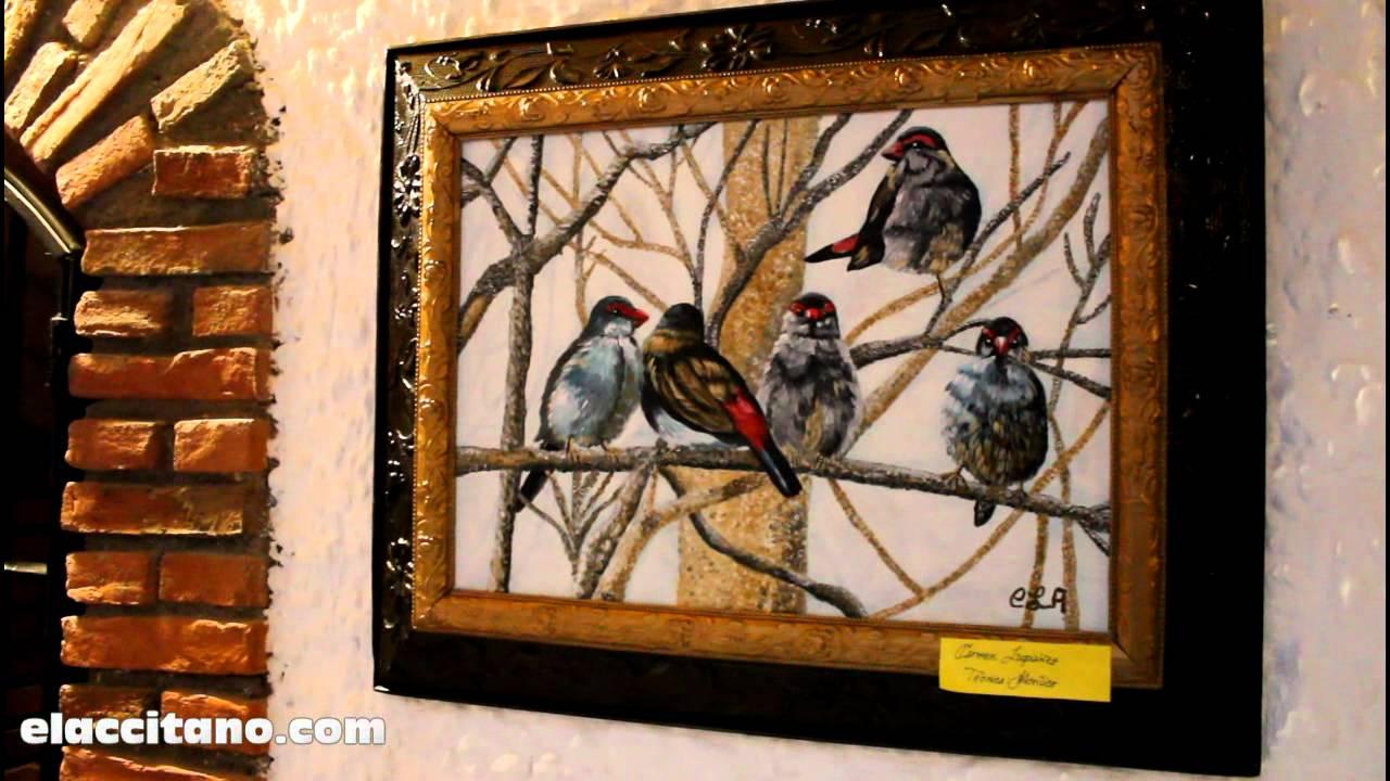 Exposición de cuadros de artistas accitanos en el Hotel Abentofail ...