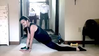STRETCH-Quadricep, hamstring & hip flexor.