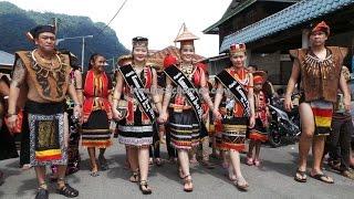 Kampung Taee Dayak Bidayuh Gawai Festival Parade, Sarawak Malaysia 2015