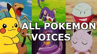 ALL 151 Original Pokemon REAL Voices - Anime Sounds, Cries & Impressions MP3