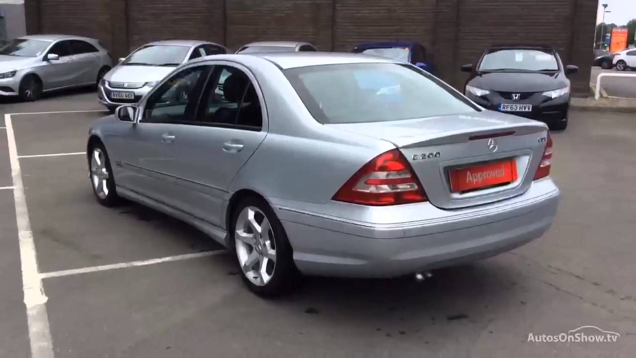 mercedes c class c200 cdi sport edition aluminium silver 2006 youtube. Black Bedroom Furniture Sets. Home Design Ideas