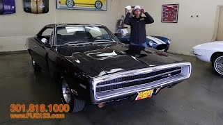 1970 Dodge Charger HEMI R/T for sale with test drive, driving sounds, and walk through video