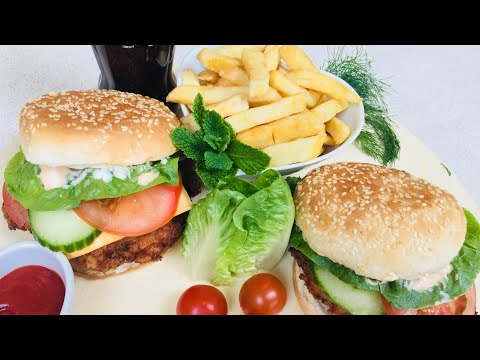 ZINGER CHICKEN BURGER RECIPE   برگر زينگر افغانى
