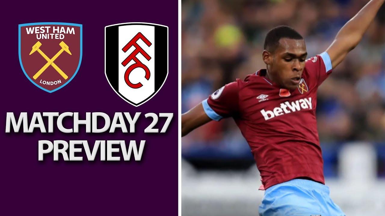 West Ham United v. Fulham | PREMIER LEAGUE MATCH PREVIEW | 02/22/2019 | NBC Sports
