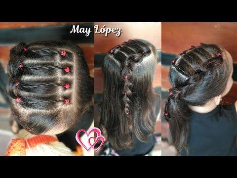 Peinado Para Ninas Facil Con Cabello Suelto O Cabello Recogido May