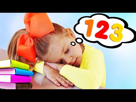 Diana Diana learns to count and Playing with Colored Balloons video for kids