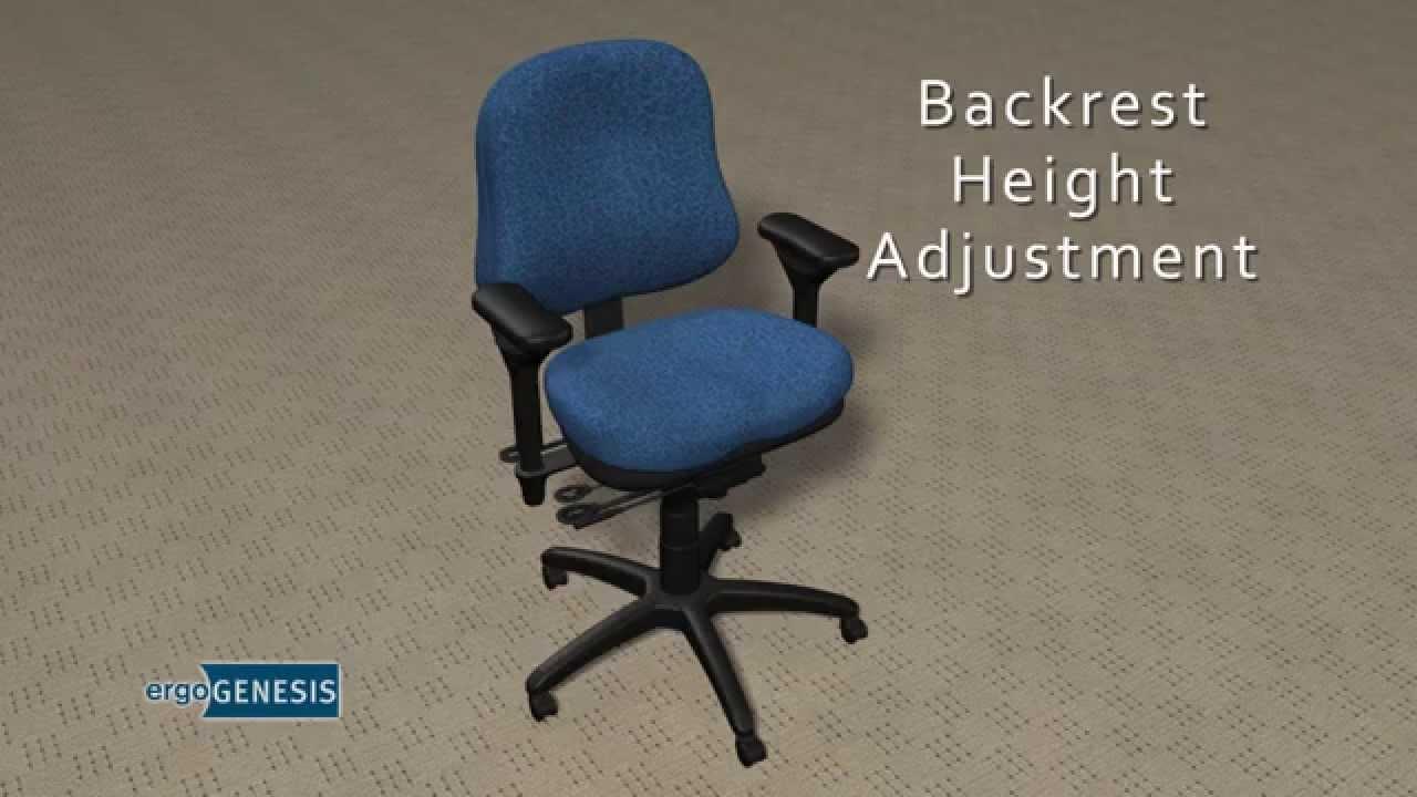 Ergogenesis Chair ergogenesis chair adjustment - training video - youtube