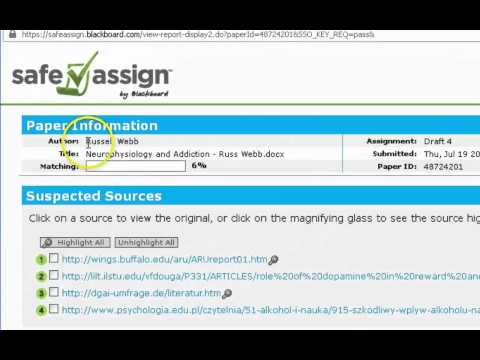 Safe assign blackboard