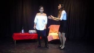 "Grupo de teatro ZONAFREE obra: Usted vino por el aviso"" parte 1/4"