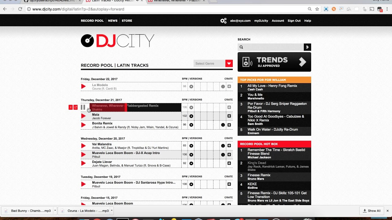 DJ City User Script (Revamped)