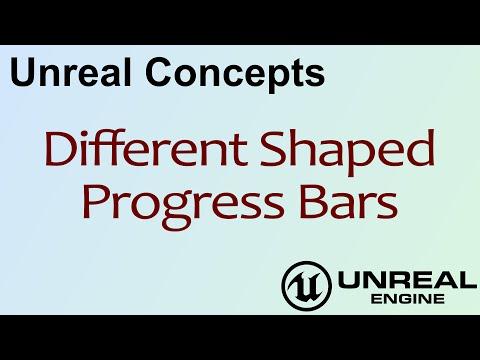 Unreal Concepts - Different Shaped Progress Bars ( UE4 )