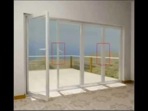 Puertas de pvc aislantes doble vidrio en m xico tipo - Puertas de biombo ...