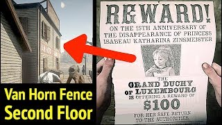 Missing Princess Upstairs of Van Horn Fence in Red Dead Redemption 2 (RDR2): Find Princess Isabeau