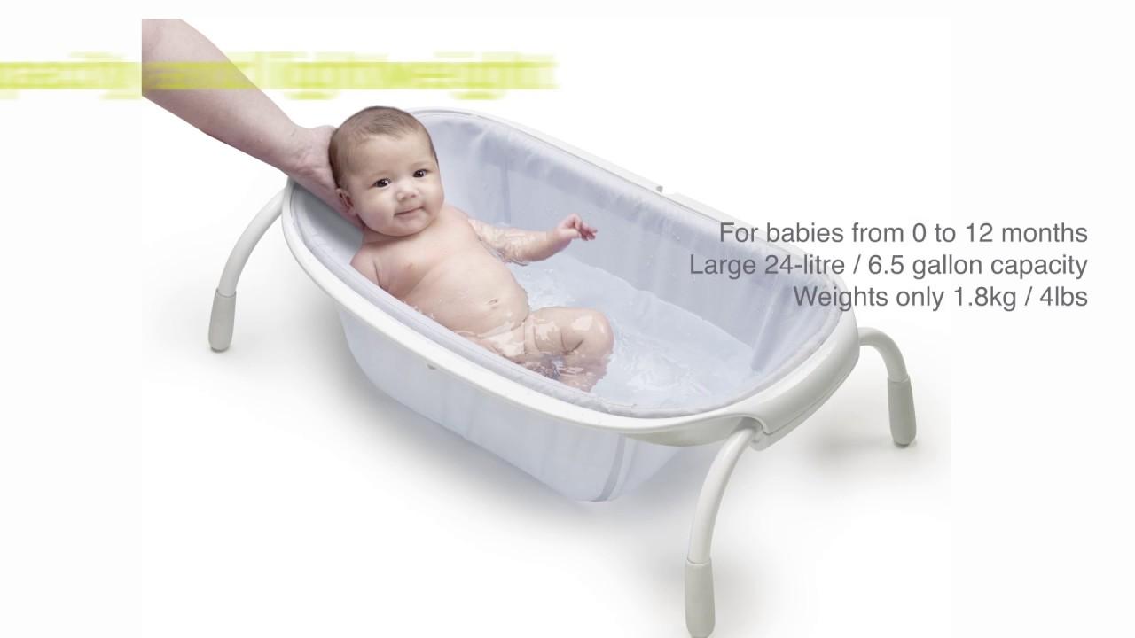 Ultra compact textile bath - BEABA - YouTube