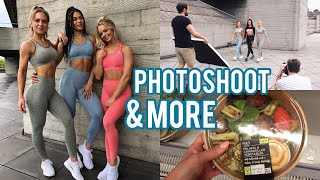 DAY IN THE LIFE: fitness photoshoot and food