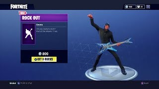 "NEW ""ROCK OUT"" DANCE (Rockstar Emote) - Fortnite Battle Royale"