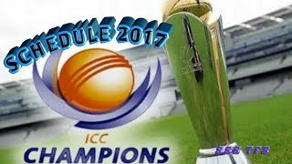 Cricket 2017 ICC trophy for cricket . Champions Trophy 2017 Schedule