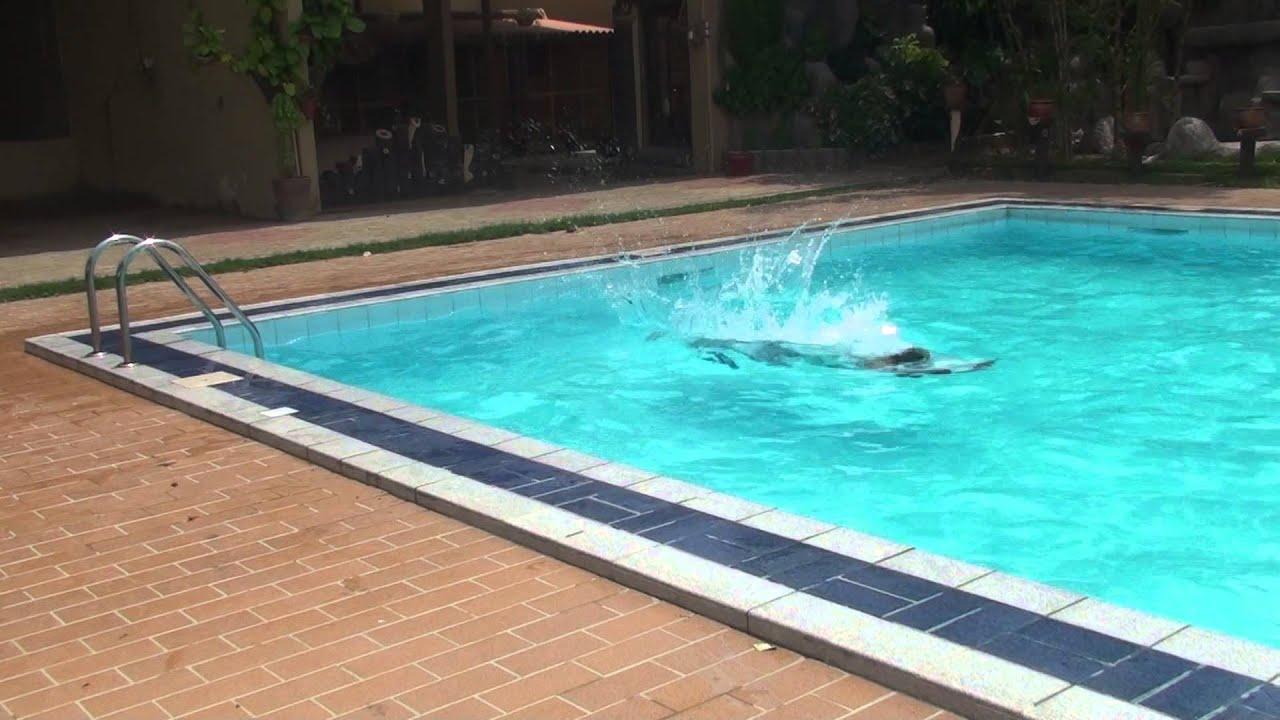 Rehan Ali diving into the Pool of Shangrilla Farm House - YouTube for Al Jannat Classic Farmhouse  570bof