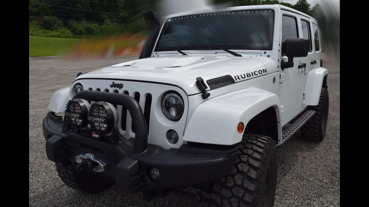New 2018 jeep wrangler unlimited rubicon aev jk350 american expedition vehicles 29