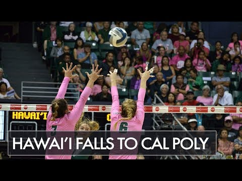 Rainbow Wahine fall to Cal Poly in Five Sets