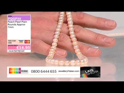 Ruby Beads for Jewellery Making. The Late Show 06/04/2014