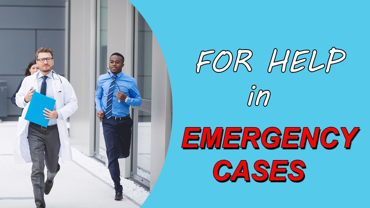 URGE FOR HELP IN EMERGENCY CASES - English Speaking Course