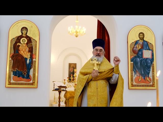 Проповедь отца Владимира в неделю Всех святых в земле Русской просиявших 04.07.2021