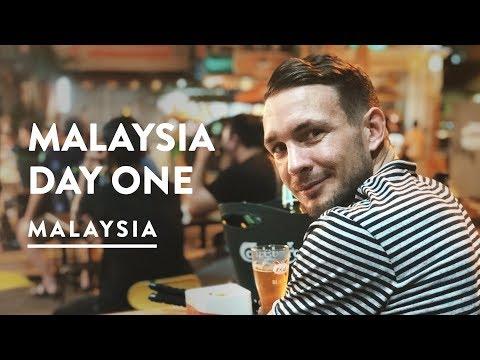 ARRIVING IN MALAYSIA - FIRST NASI LEMAK! | Kuala Lumpur Airport Train | Travel Vlog 081, 2017