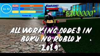 TOUS LES CODES DE TRAVAIL EN BOKU NO ROBLOX REMASTERED!! 😱😱 - France Boku No Roblox Remastered