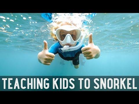 How To Teach Kids To Snorkel In The Ocean /// WEEK 104 : Belize