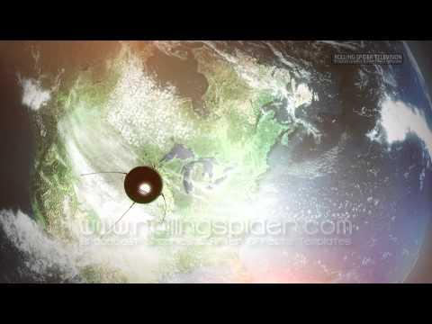 Sputnik Space Satellite Orbits North America ... Rolling Spider Television