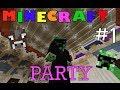 Minecraft Party! #1 - MCbrawl server - with 500manhunt!