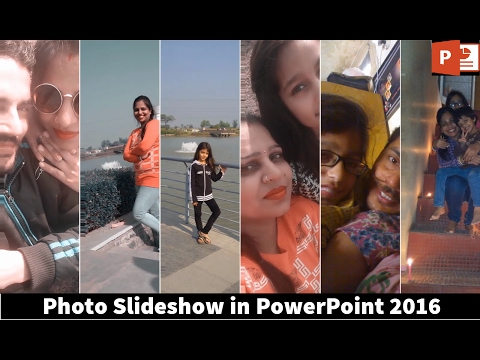 How To Make A Nice Photo Slideshow | PowerPoint 2016 Tutorial