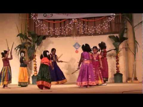 Socal Tamil Sangam - Kolattam Dance.wmv