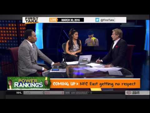 First Take discussing D'Angelo Russell recording Nick Young